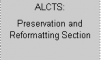 Preservation and Reformatting Section logo