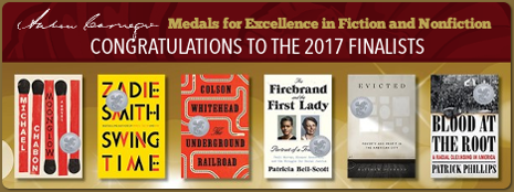 Congratulations to the 2017 finalists for the Andrew Carnegie Medals for Excellence in Fiction and Nonfiction