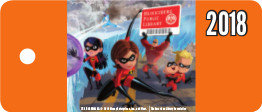 Artwork for library key card featuring The Incredibles