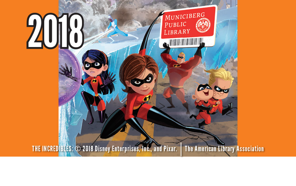 Artwork for library card with white space featuring The Incredibles