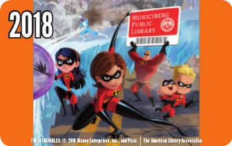 Artwork for library card featuring The Incredibles