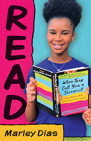 Marly Dias reads When They Call You a Terrorist (ALA READ poster)