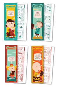 Bookmarks featuring Lucy, Linus, Sally and Charlie Brown