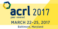 ACRL 2017 conference, March 22nd to 25th in Baltimore, Maryland.