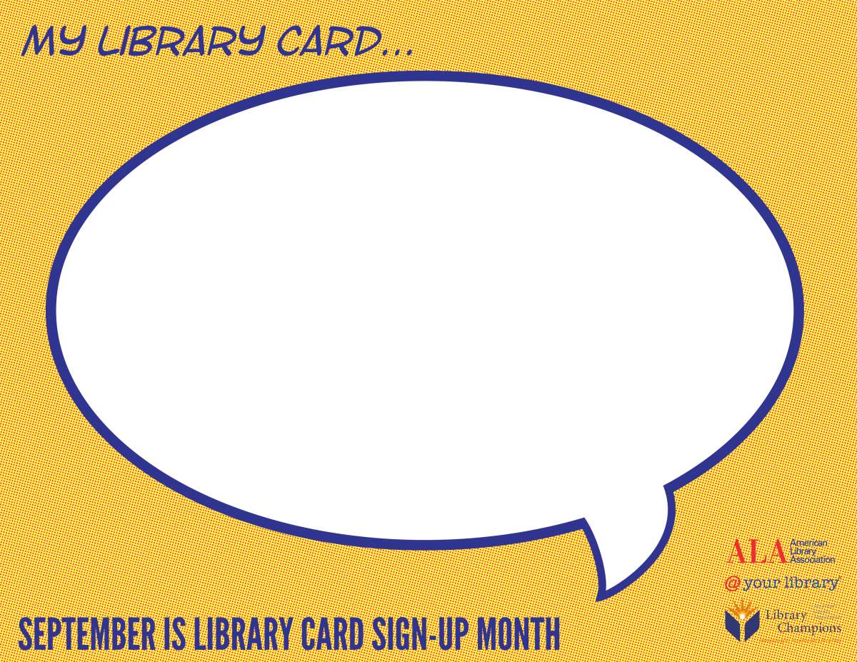 My Library Card...Speech bubble