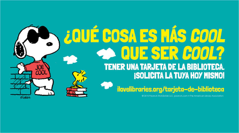 Snoopy Facebook cover art in Spanish