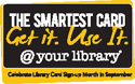 new smartest card logo - black and yellow