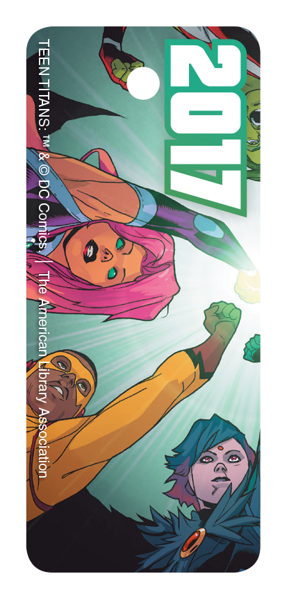 Keytag version of Teen Titans Library Card Art
