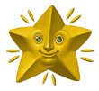 gold star image with a smiling face