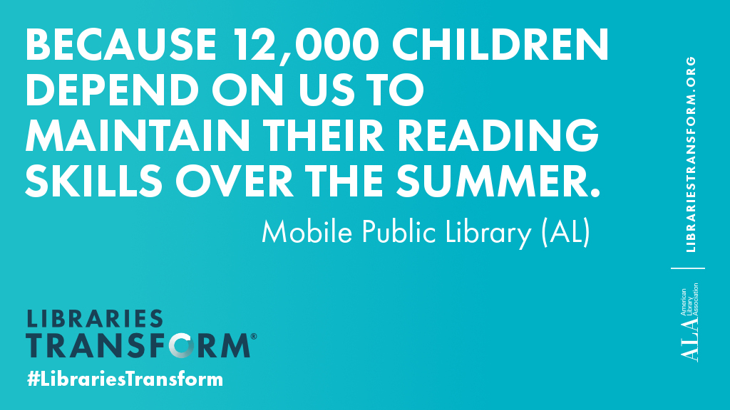 Because 12,000 Children depend on us to maintain their reading skills over the summer