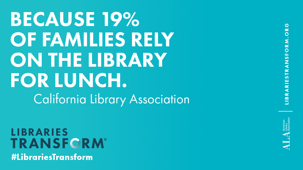 Because 19% of families rely on the library for lunch