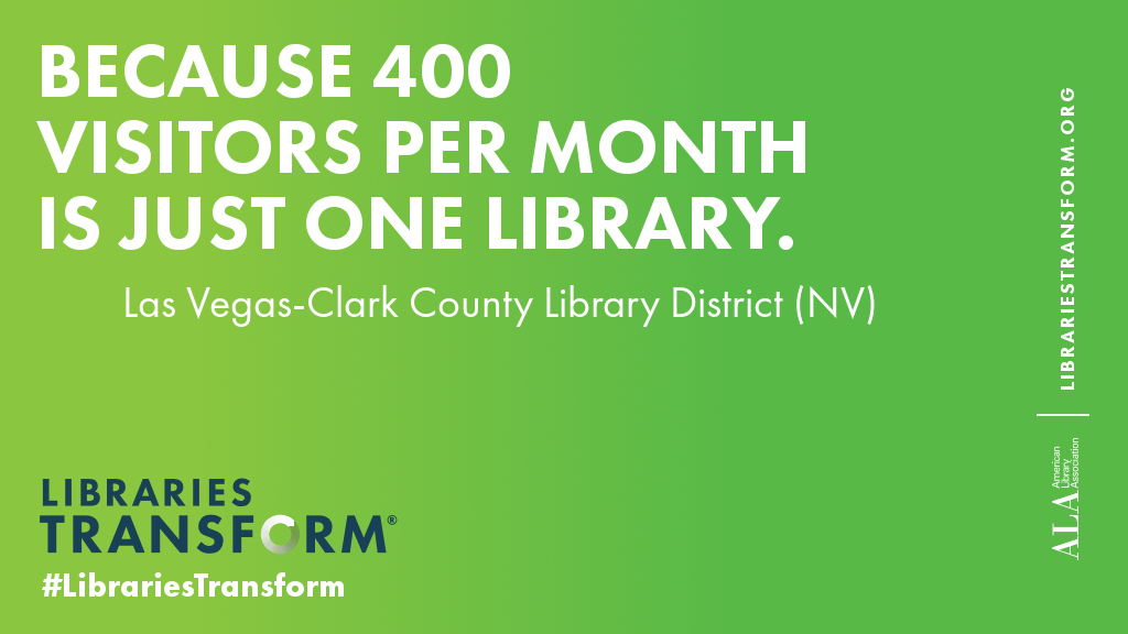 Because 400 visitors per month is just one library