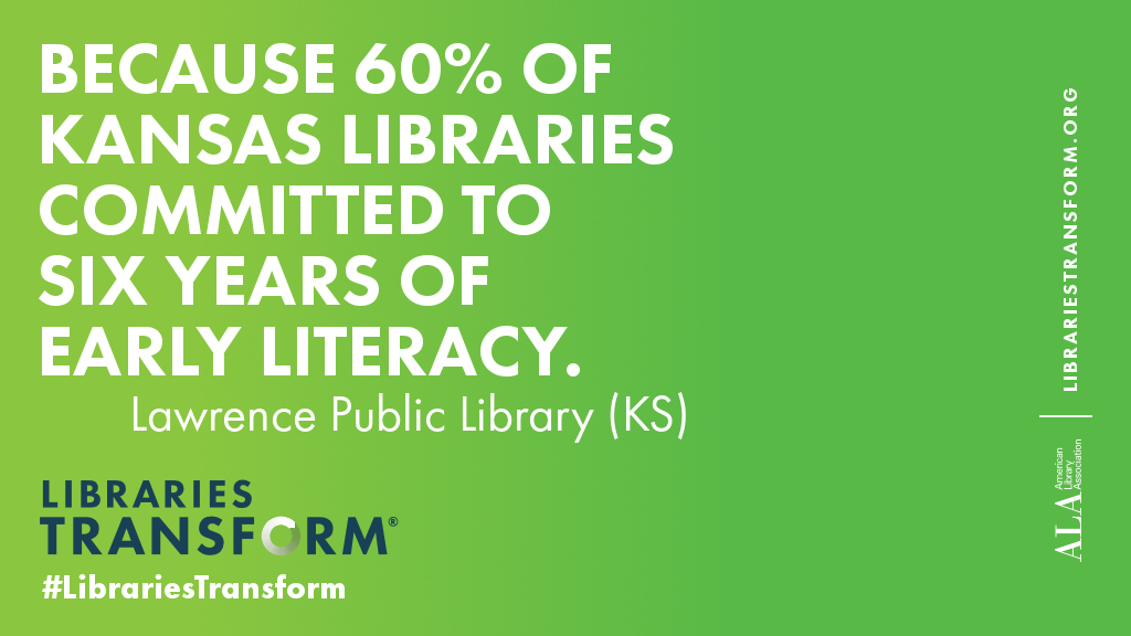 Because 60% of Kansas libraries committed to six years of early literacy