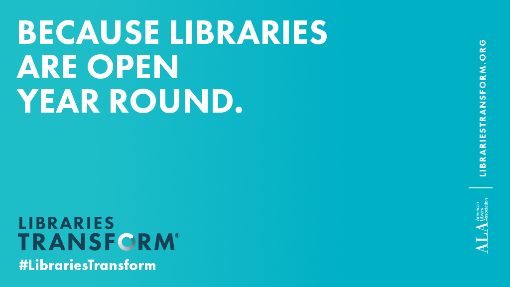 Because libraries are open year round