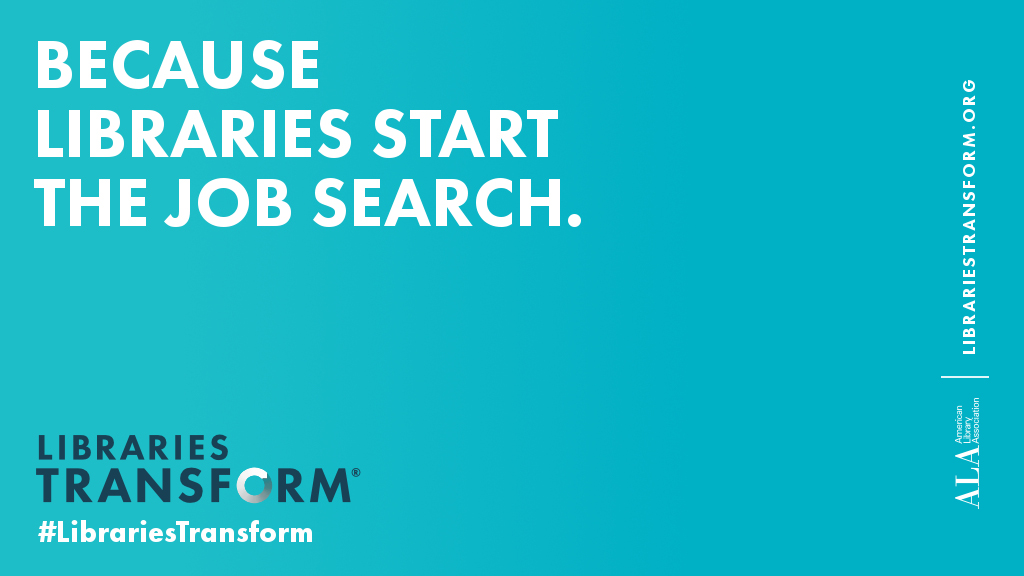 Because libraries start the job search