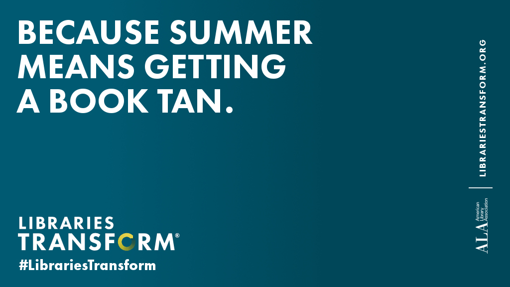 Because summer means getting a book tan