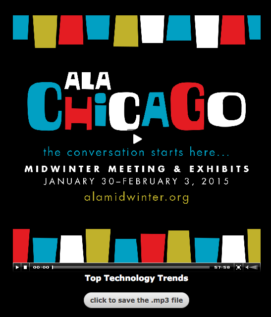Top Tech Trends at 2015 ALA Midwinter Meeting