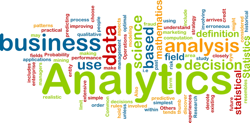 Word cloud of data and analytics terms