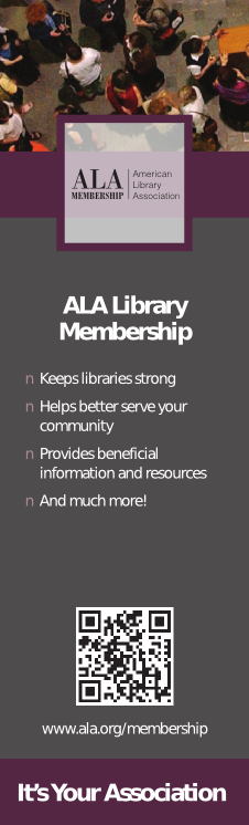 Bookmark: ALA Library Membership Reasons to Join