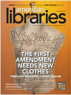 1st ammendment cover of american libraries magazine