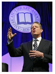 vice-president al gore at ala midwinter 2010