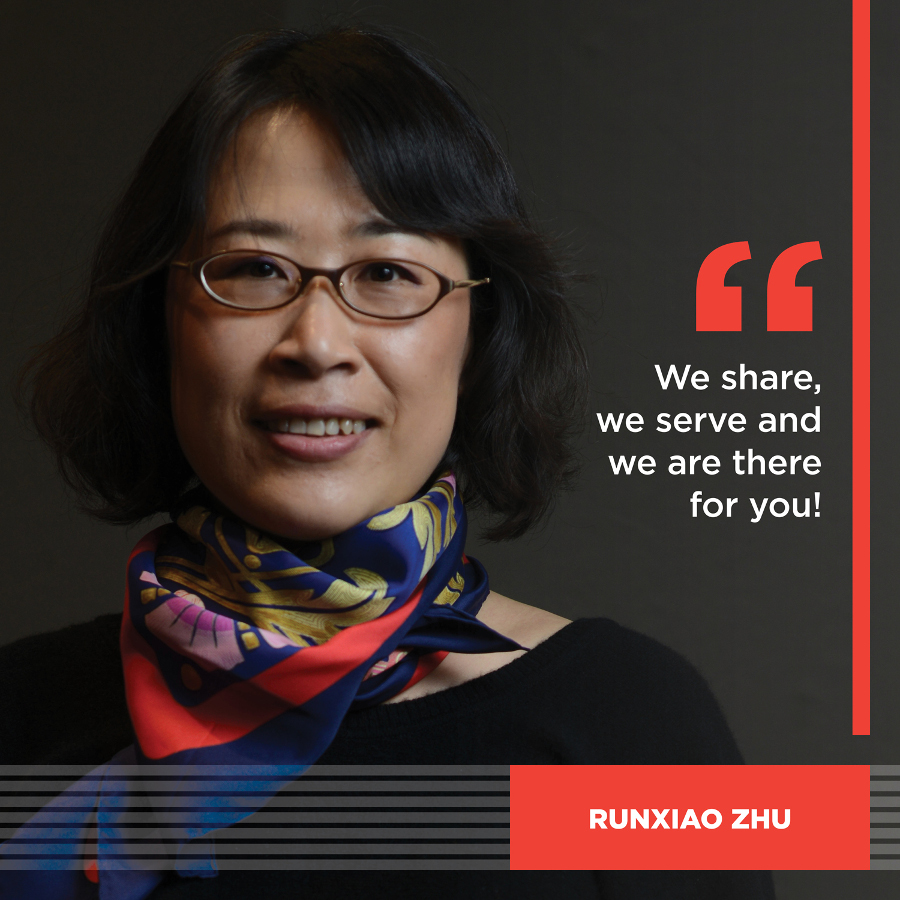 We share, we serve and we are there for you! Runxiao Zhu