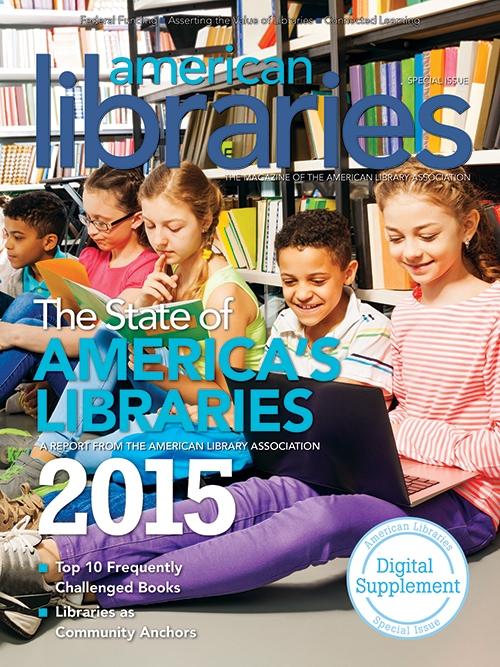 Cover: State of America's Libraries 2015, American Libraries Magazine digital supplement