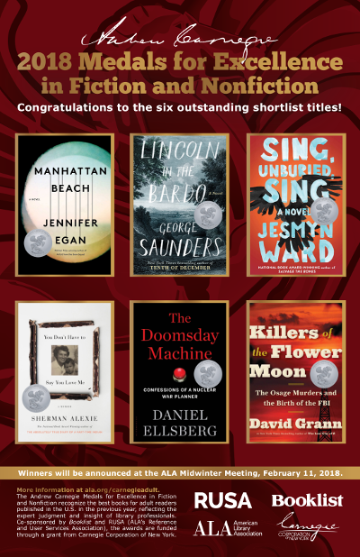 Poster: Andrew Carnegie Medals for Excellence in Fiction and Nonfiction