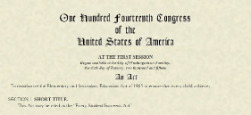 Legislative document: Every Child Succeeds Act -One hundred fourteenth congress of the United States.