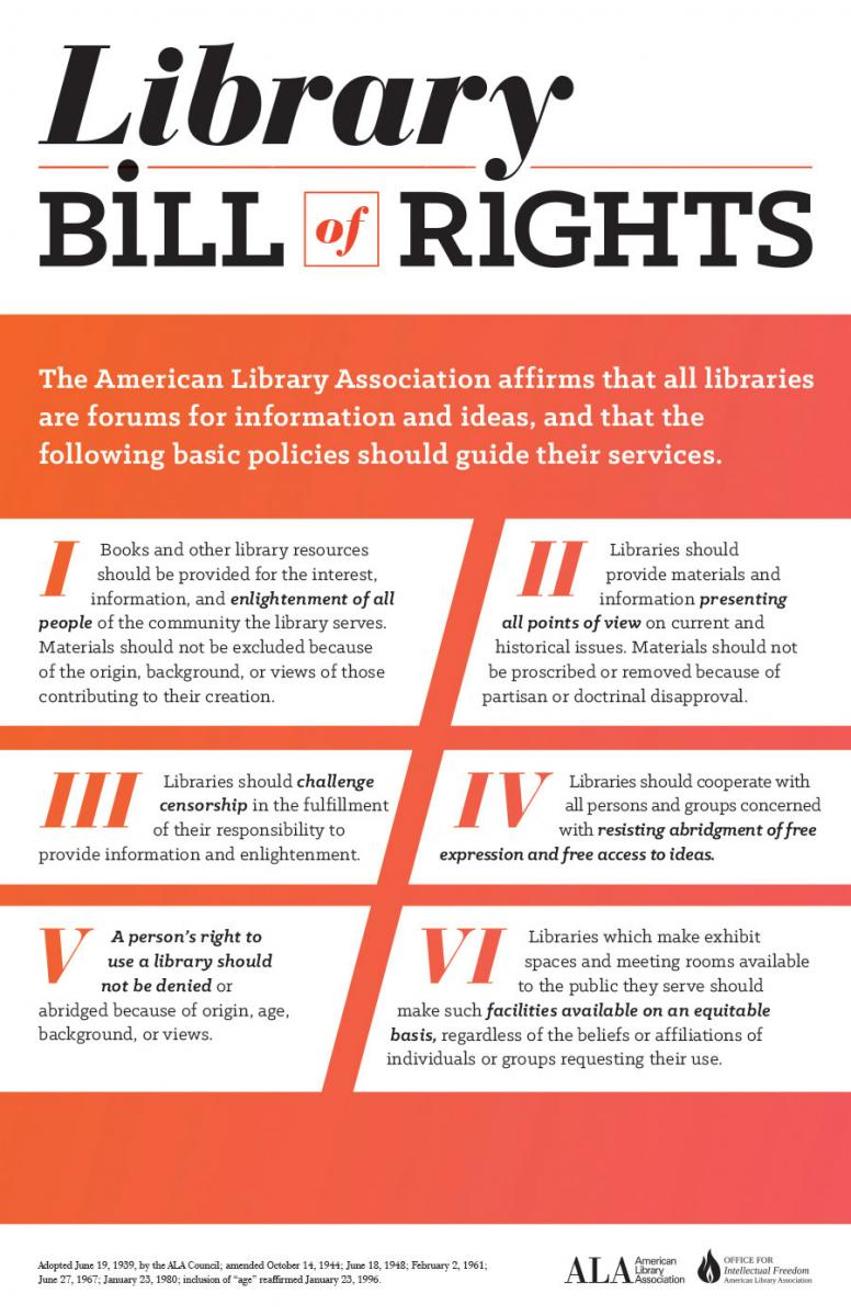 Poster: Library Bill of Rights