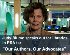 "Judy Blume speaks out for libraries in PSA for ""Our Author, Our Advocates"""