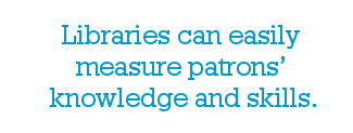 Libraries can easily measure patrons' knowledge and skills.