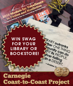 Win swag for your library or bookstore, Carnegie Coast-to-Coast Project