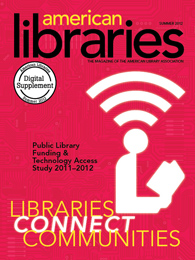 Magazine cover: Libraries Connect Communities, American Libraries Magazine