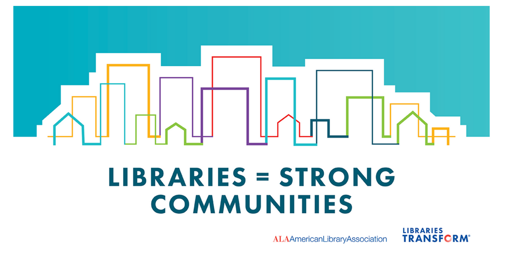 Libraries+Strong Communities Twitter Graphic