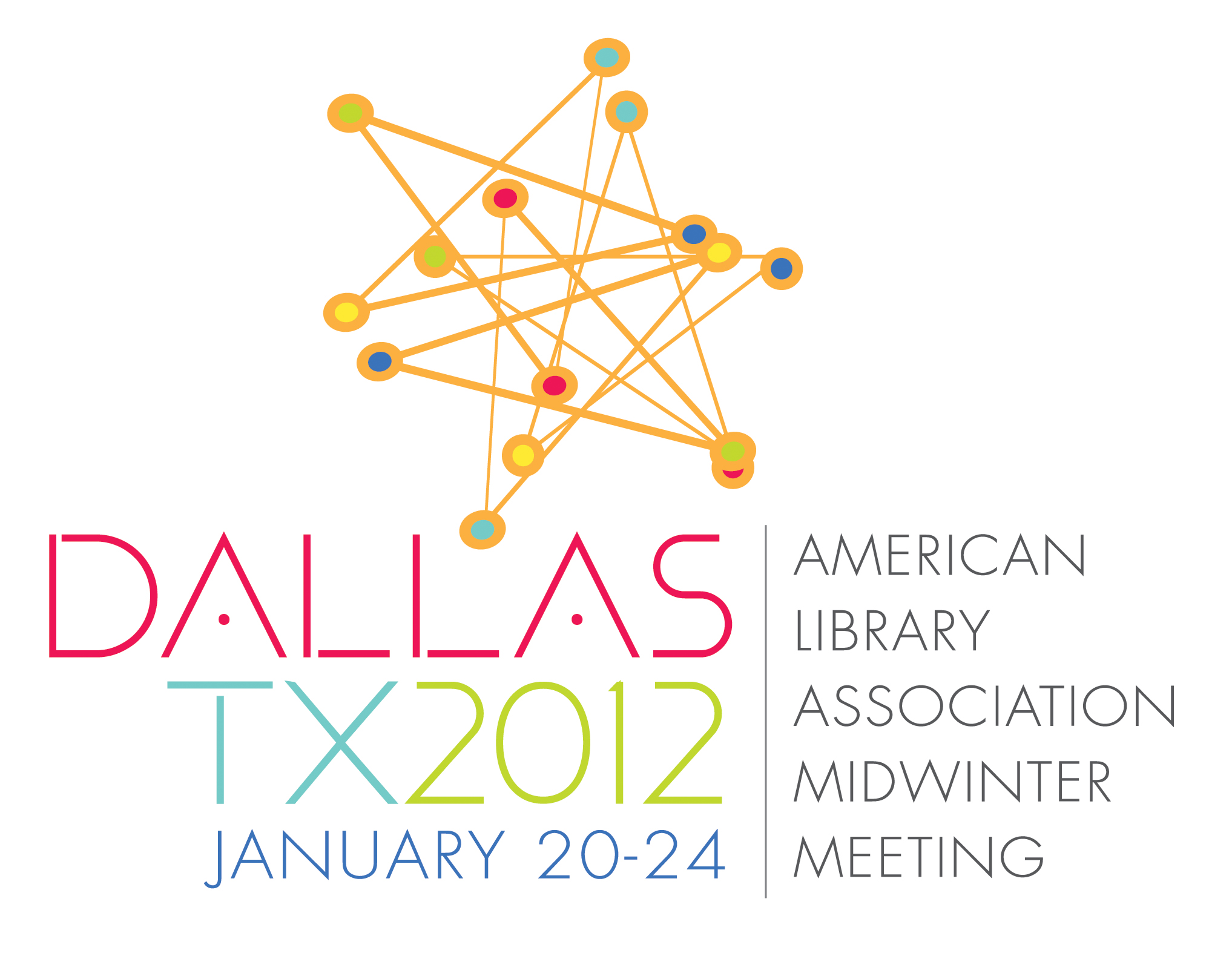 Color logo:American Library Association Midwinter Meeting, Dallas, Texas January 20-24, 2012