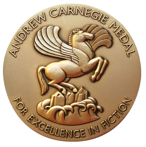 image of the Andrew Carnegie medal seal for fiction