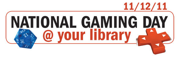 National GAming Day @ your library logo