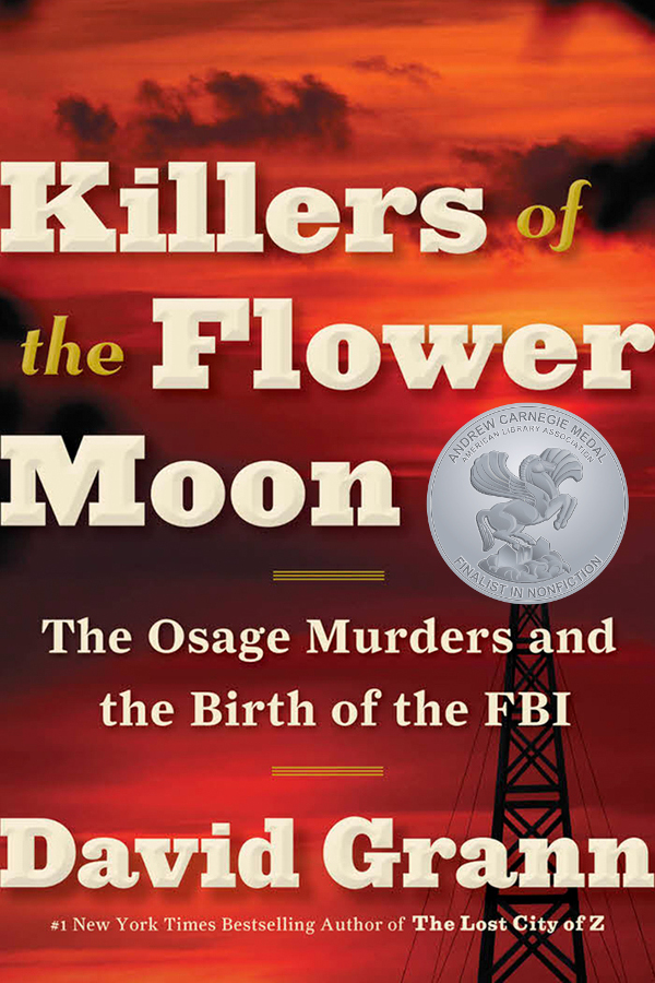 Book cover: Killers of the Flower Moon