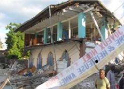 Petit Goave Library in Haiti after 2010 earthquake.