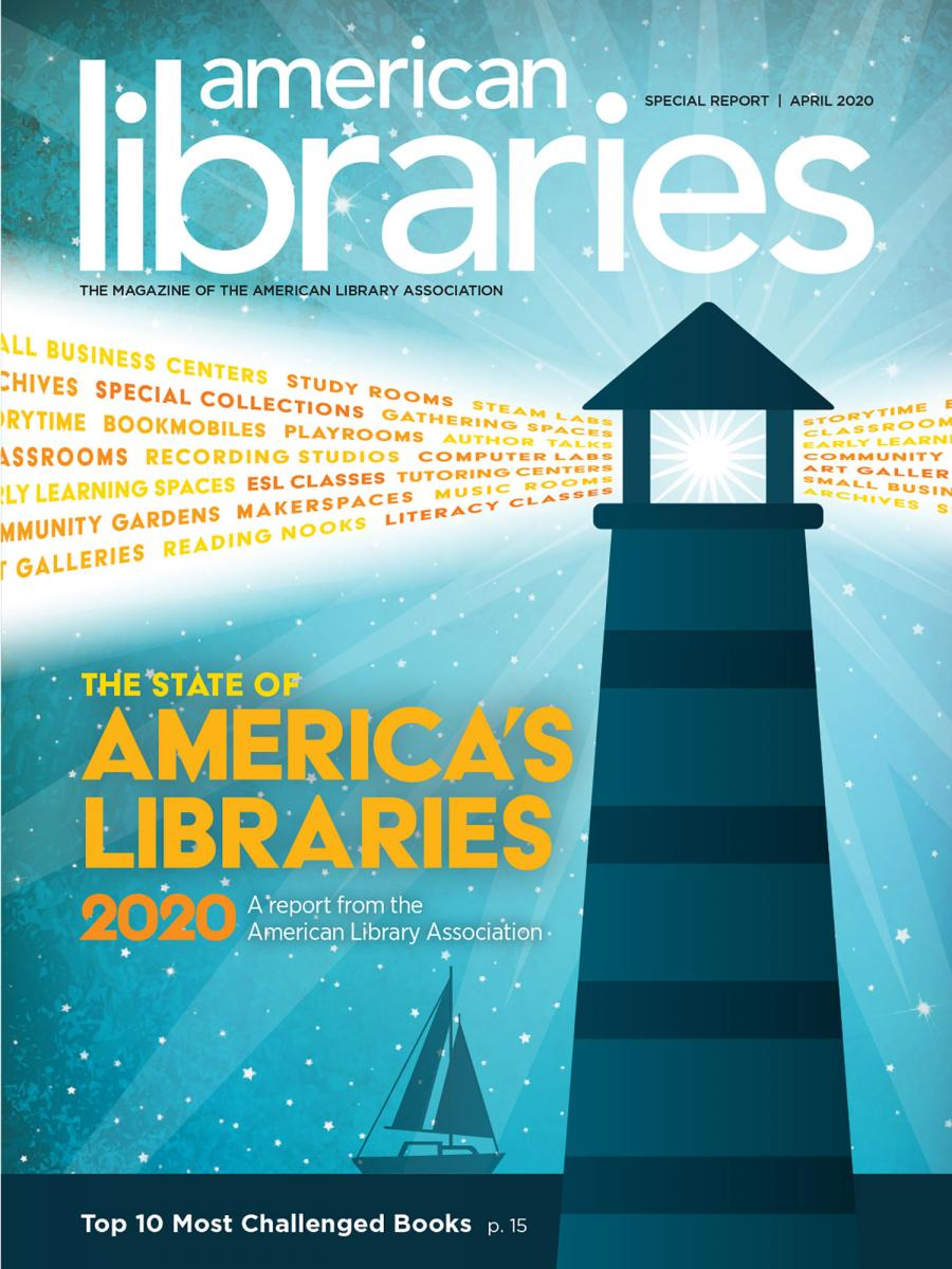 State of America's Libraries 2020, a report from the American Library Association, top ten  most challenged books
