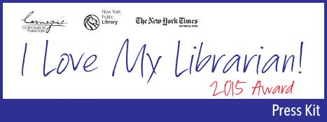 I Love My Librarian 2015 Award Prss Kit