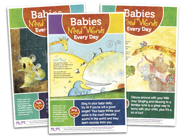 image of three babies need words every day posters download