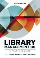 "book cover for second edition of ""Library Management 101: A Practical Guide,"""