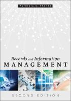book cover for Records and Information Management, Second Edition