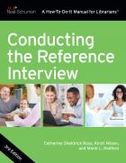 "book cover for the newly updated third edition of ""Conducting the Reference Interview"""