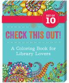 book cover for Check This Out! A Coloring Book for Library Lovers 10-pack bundle