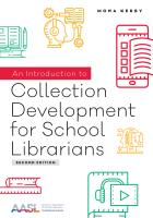 book cover for An Introduction to Collection Development for School Librarians, Second Edition