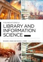 book cover for Foundations of Library and Information Science