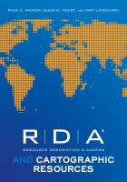 RDA and Cartographic Resource
